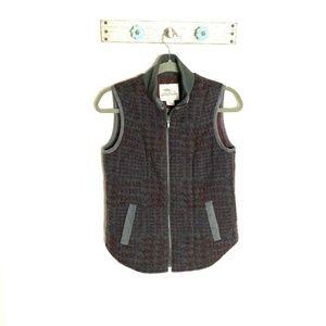 Bob Timberlake XS Gray Houndstooth Wool Blend Vest